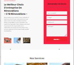 site web réalisé par GoTek pour le compte de ctb rénovations une entreprise de couverture et de toiture.