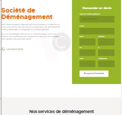 site web réalisé par GoTek pour le compte de nemri déménagement une entreprise de déménagement.