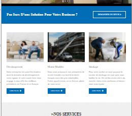 site web réalisé par GoTek pour le compte de top-dem une entreprise de déménagement.