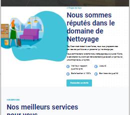 site web réalisé par GoTek pour le compte de TopClean une société de nettoyage.